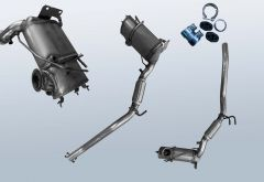 Filtro antiparticolato diesel VW EOS 2.0TDI (1F)